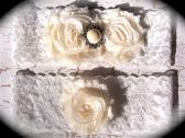 Ivory Lace Pearl Garter Set 604