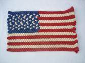 Handbraided USA Flag 21 inches by 13 inches