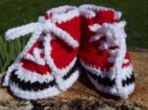 Crocheted High Top Tennis Shoes