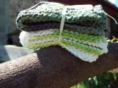 Set of 2 knit dishcloths