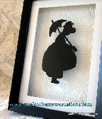 reverse silhouette painting on glass