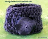 heather grey crochet unisex wrist cuff