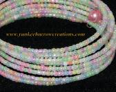 pastel seed beads on memory wire bracelet