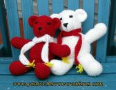 big sister teddy bear duo white and red