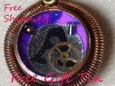 A Steampunk Galaxy Initial Necklace