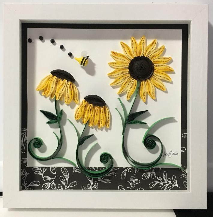 Quilling Sunflower Wall Art Decor