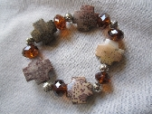 Cross Bracelet Jasper Brown Crystal