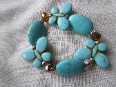 Magnesite Turquoise Butterfly Bracelet Handmade