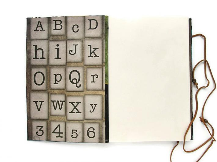 Large Hand Bound Book Shift Lock Backspace