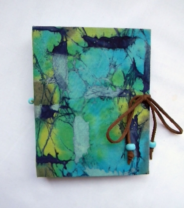 Small Hand Bound Book Electric Prairie