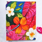 Large Handbound Art Journal Hibiscus