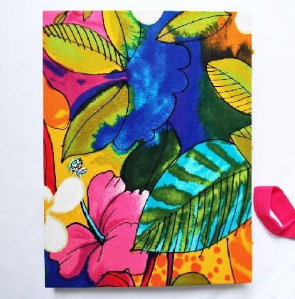 Large Handbound Art Journal Hibiscus