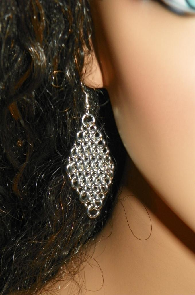 Diamond Shape Dangle Earrings