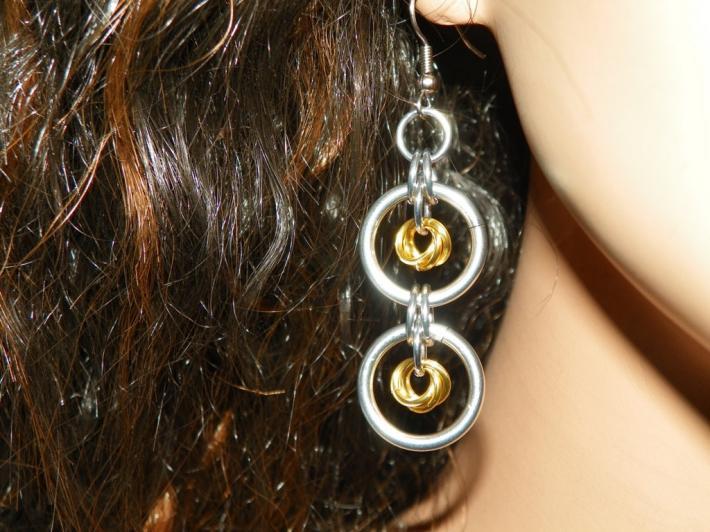 Mobius Flower Dangle Earrings