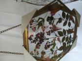 Hexagon Brass Medal Frame with Pressed Flowers