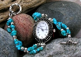 Turquoise Silver Watch  W094