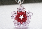 Swarovski Red Flower Star Charm PDF Tutorial