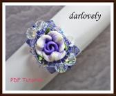 Swarovski Purple Flower Ring PDF Tutorial