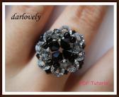 Swarovski Elegant Black Ring PDF Tutorial