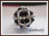 Swarovski Black Silver Elegant Ring PDF Tutorial