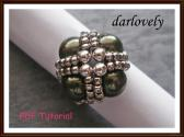 Swarovski Green Pearl Metal Ring PDF Tutorial