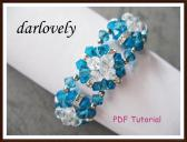 Swarovski Blue Square Flower Bracelet PDF Tutorial