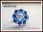 Swarovski Big Blue Ring PDF Tutorial