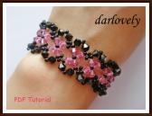 Swarovski Black Rose Flower Bracelet PDF Tutorial