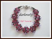 Swarovski Ruby Amethyst Centered Bracelet PDF Tutorial