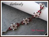 Swarovski White Peach Bronze Flower Bracelet PDF Tutorial