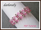 Swarovski Rose Square Metal Bracelet PDF Tutorial