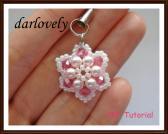 Swarovski Puffy Pink Flower Charm