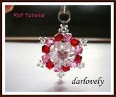 Swarovski Red Pink Pearl Charm PDF Tutoriakl