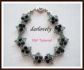 Swarovski Black Starry Bracelet PDF Tutorial