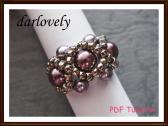 Swarovski Purple Pearl Ring PDF Tutorial