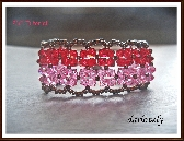 Red Pink Double Flower Bronze Bracelet PDF Tutorial