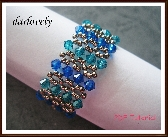 Swaroski Blue Green Metallic Cuff Bracelet PDF Tutorial