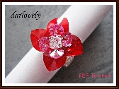 Swarovski Red Rose 4 Heart Petal Ring PDF Tutorial