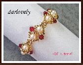 Swarovsk Red Golden Pearl Bracelet PDF Tutorial