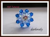 RG089 Monte Blue Flower Ring PDF Tutorial