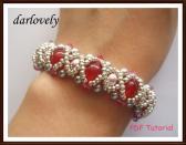 BB161 Ruby Rose Silver Pearl Metallic Bracelet PDF Tutorial