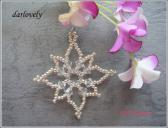 XM024 Sparkle Starry Snow Flake Pendant