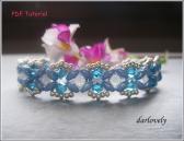 BB175 Dainty Blue Superduo Bracelet