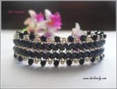 BB186 Elegant Black Ladder Superduo Bracelet PDF Patterb