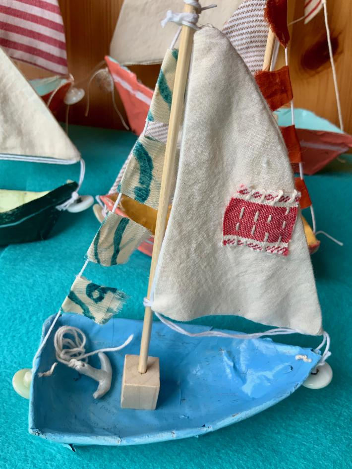 newspaper sailboats