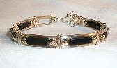 Black Onyx Bangle Bracelet