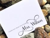 Thank You From the Future Mrs with Name Bridal Shower Thank You Notes