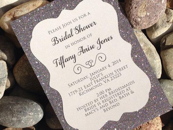 Glitter Bridal Shower Invitation 25 ct