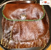 SALE hand stitched soft handmade brown patchwork cowboy leather shoulder bag by brand G2P