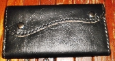 black soft leather womans handmade bi fold purse by brand g2p